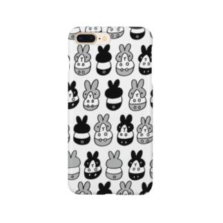 はちわれちゃん(黒・クリア) Smartphone cases