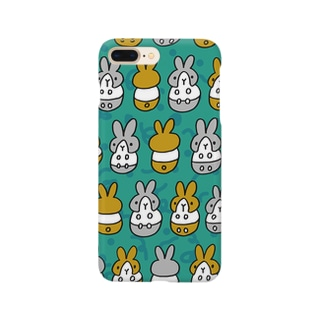 はちわれちゃん(青緑1) Smartphone cases