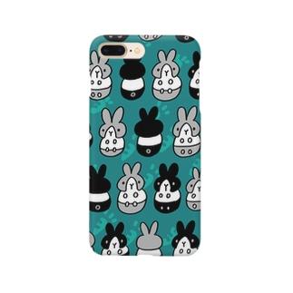 はちわれちゃん(青緑2) Smartphone cases