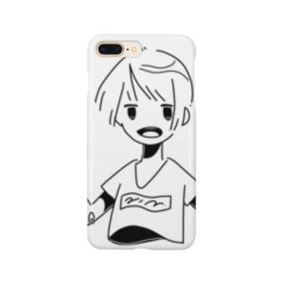 白黒ポップな男の子 Smartphone cases