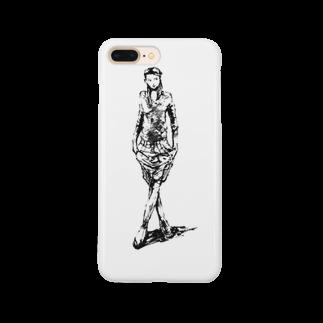 シシカバぐっずの足クロス少女 Smartphone cases