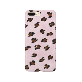 pinkヒョウ柄 Smartphone cases