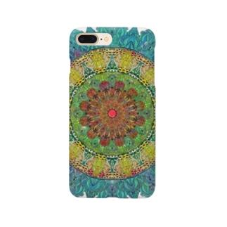 曼荼羅ターコイズ Smartphone cases
