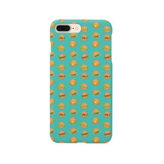 ハンバーガーにまざるモンスター Smartphone cases
