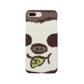 葉っぱもぐもぐてぃらみすちゃん Smartphone cases