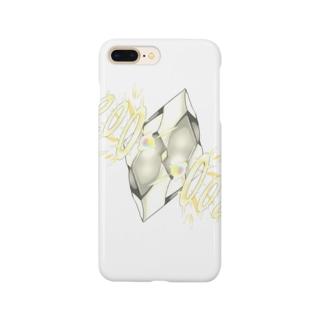 フェイクディガー「光の白い宝石」 Smartphone cases