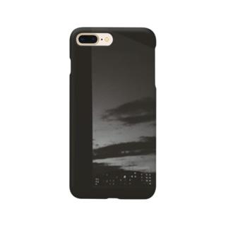 モノクロの夜 Smartphone cases