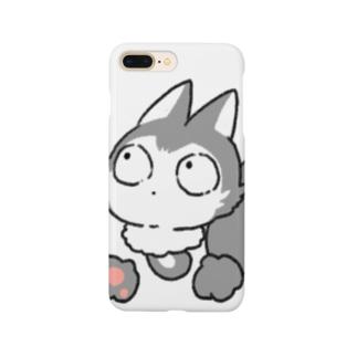 灰色キツネコ(見つける) Smartphone cases
