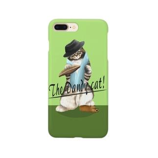 ダンディーキャット(グリーン) Smartphone cases