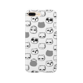 ブチギレ毒舌くま(沢山) Smartphone cases