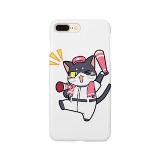 野球にゃんこ Smartphone cases