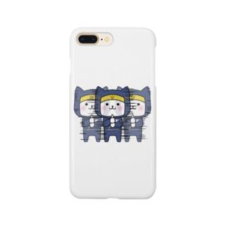 にゃんこ忍者 Smartphone cases