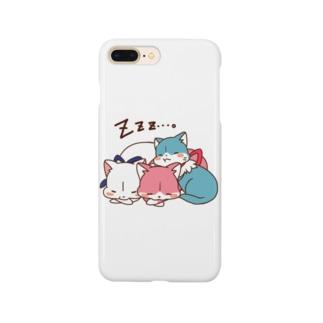 3色にゃんこ Smartphone cases