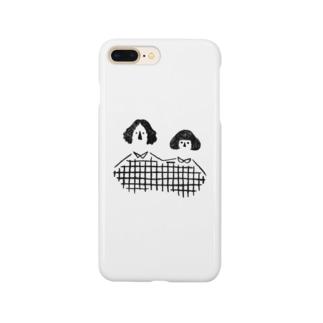 夫婦(black) Smartphone cases