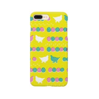 ライチョウのおさんぽ yellow Smartphone cases
