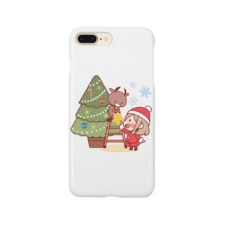 サンタガール&トナカイ Smartphone cases