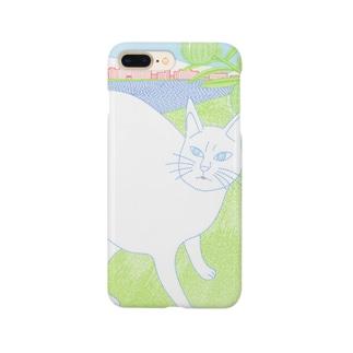 風船唐綿と猫 Smartphone cases