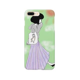 プリーツスカート Smartphone cases