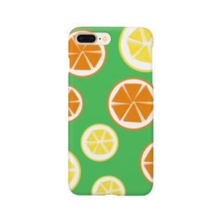 オレンジとレモンと時々ミント。 Smartphone cases