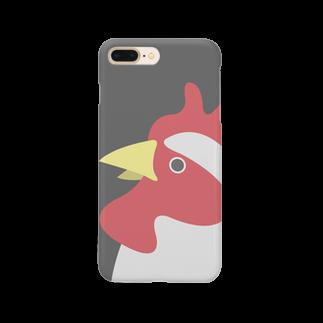 タケトリの籠のやや上を向くにわとり Smartphone cases