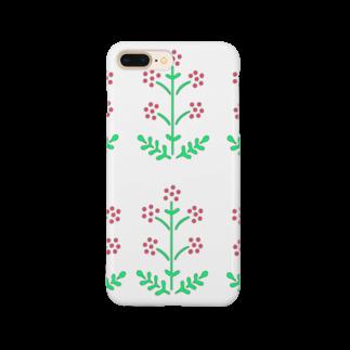 ツバメ堂の野の花<赤い花> Smartphone cases