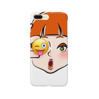 テヘペロキャンディー Smartphone cases