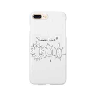 サマータイム!!!みんなで Smartphone cases