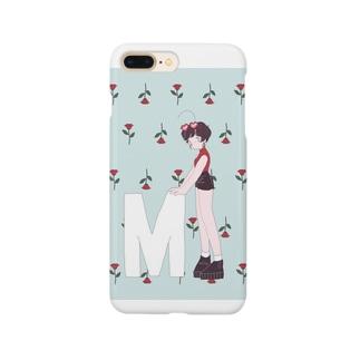 バラと女の子② Smartphone cases