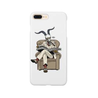 異形頭のスタンプ Smartphone cases