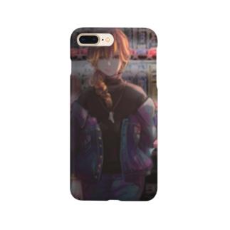 自販機と少女 Smartphone cases