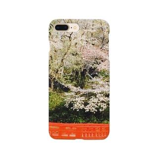 日本の桜の風景 Smartphone cases