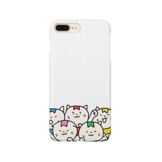 にゃんチャレスマホケース Smartphone cases