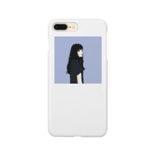 黒髪のイケてる彼女 Smartphone cases