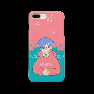 さびぬき。のUNHAPPY BOY Smartphone cases
