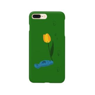 魚に花を生けた Smartphone cases