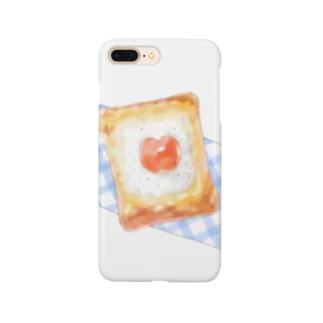 マヨたまトースト×WHITE  Smartphone cases