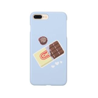 チョコ×SKYBLUE Smartphone cases