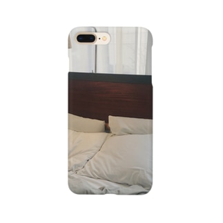 Bed. Smartphone cases