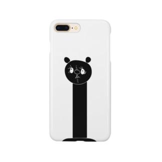 首の長い熊(スーパーロング) Smartphone cases