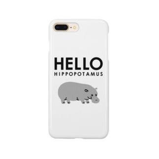 ハローヒポポタマス Smartphone cases