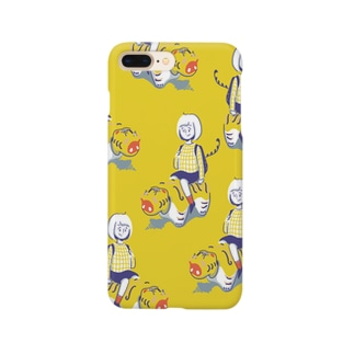 張子の虎と女の子 Smartphone cases