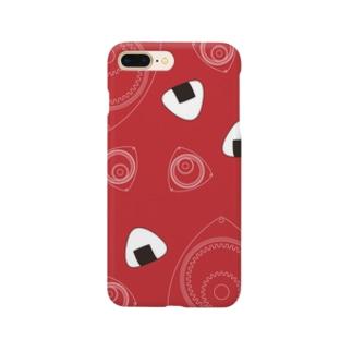 回れ焼きおにぎり 赤色 Smartphone cases