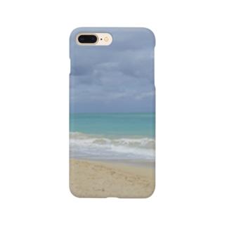 ハワイ・オアフ島 ワイマナロビーチ Smartphone cases