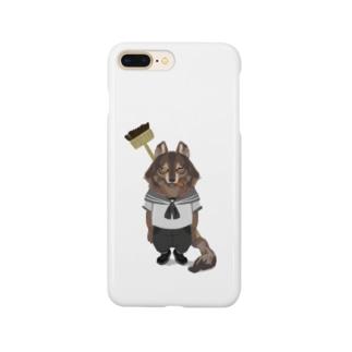水兵さんに転職したオオカミ Smartphone cases