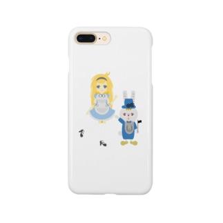アリス&ホワイトラビット Smartphone cases