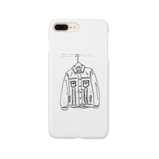 デニムのジャケット Smartphone cases