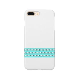 kokoro(ハート♡ブルー) Smartphone cases