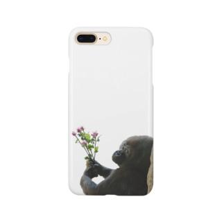 「好きです」 告白ゴリラくん Smartphone cases