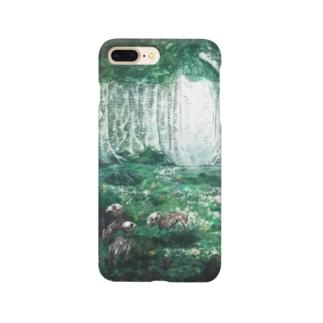 【骨と植物】森とウサギ Smartphone cases