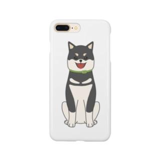 黒柴(全身) Smartphone cases